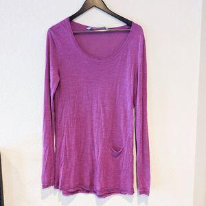 ATHLETA Purple Single Pocket Long Sleeve Top XL
